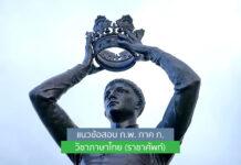 แนวข้อสอบ ก.พ. ภาค ก. วิชาภาษาไทย (ราชาศัพท์)